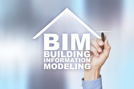 BIM - Building information modeling is a process the generation and management of digital representations of physical and functional characteristics of places.