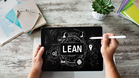 Lean manufacturing. Six sigma technology and business concept. Standard-Bild