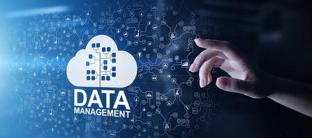 Data management system, cloud technology, Internet and business concept. Stok Fotoğraf