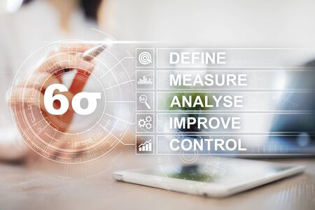 Six sigma - set of techniques and tools for process improvement. Stok Fotoğraf