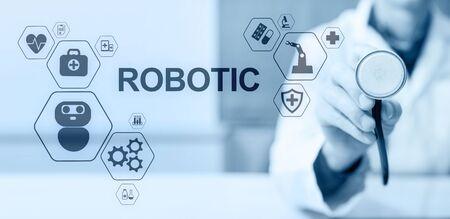 Medical robot rpa automation modern technology in medicine concept. Reklamní fotografie