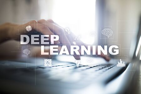 Deep machine learning, artificial intelligence in smart factory or technology solution.