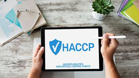 HACCP - Hazard Analysis and Critical Control Point. Standard and certification, quality control management rules for food industry.