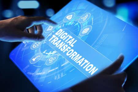 Digital transformation, disruption, innovation. Business and modern technology concept. Archivio Fotografico