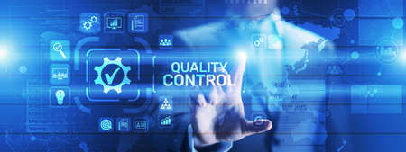 Quality control assurance standards business technology concept.