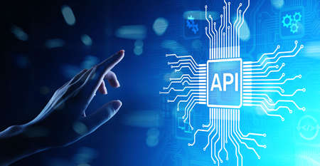 API - Application Programming Interface, software development tool, information technology and business concept. 写真素材