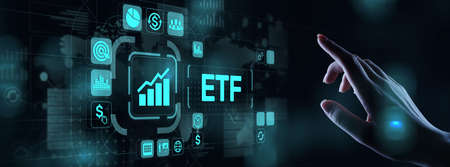ETF Exchange traded fund Trading Investment Business finance concept on virtual screen. 写真素材