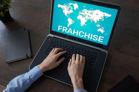Franchise business model and marketing strategy concept. 写真素材