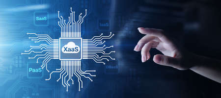 XaaS PaaS SaaS IaaS DBaaS Infrasstructure Service Data Base Platform development solution for business.