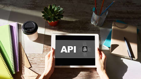 API application programming interface. Internet and technology concept.