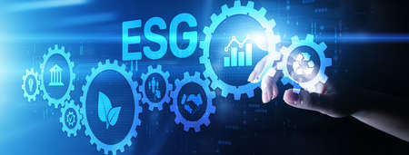 ESG Environment social governance investment business concept on screen Banque d'images