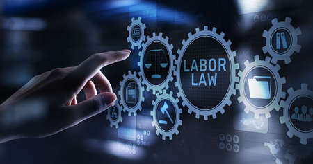 Labor Law Lawyer Legal Business Consulting concept Imagens