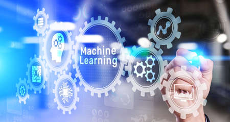 Machine Deep learning algorithms, Artificial intelligence, AI, Automation and modern technology in business as concept Imagens