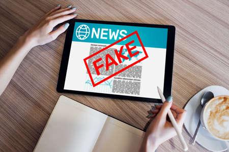 Fake News Manipulation Media TV Disinformation Newspaper Business Internet Technology Concept