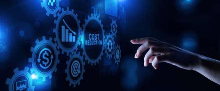 Costs reduction business finance optimisation strategy economy saving Imagens