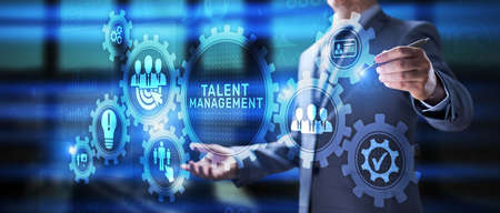 Talent management HR Human resources skill career business finance technology concept