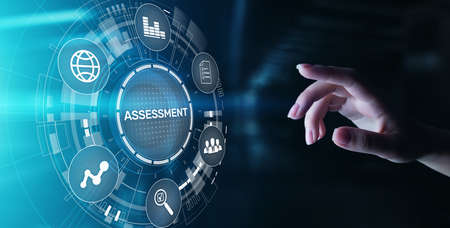 Assessment analysis Business analytics evaluation measure technology concept Imagens
