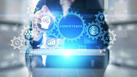 Competence Skill Personal development Business concept on virtual screen
