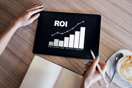 ROI, Return on investment, Business and financial concept