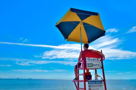 Lifeguard, Beach Umbrella, Parasol