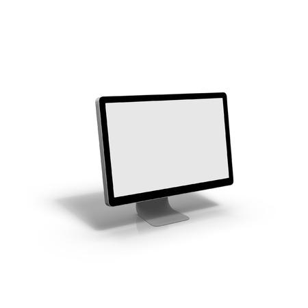 computer screen: Schermo del computer, isolato su sfondo bianco