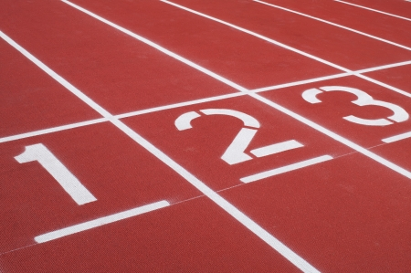 running track: Retro sport running track  Stock Photo