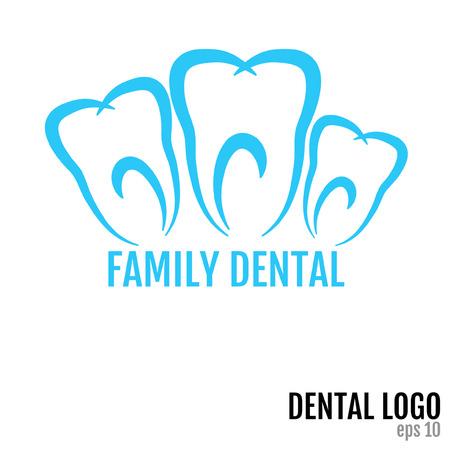 家族歯科 - 歯科ロゴのコンセプト。