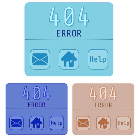 error: Vector Concept page 404. Design 404 error. Illustration