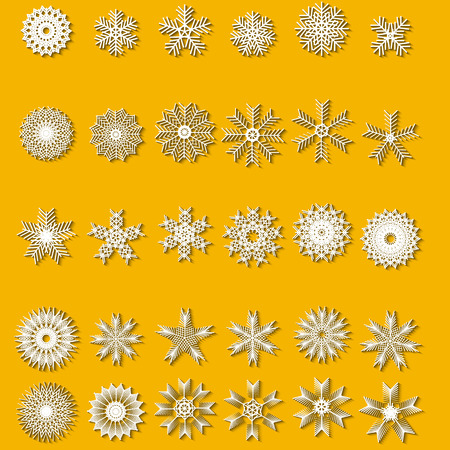 christmas theme: Snowflakes set. Background for winter and christmas theme. Vector illustration.