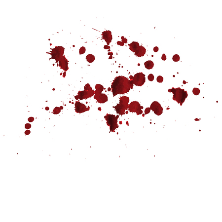 vector blood splatter isolated Illustration