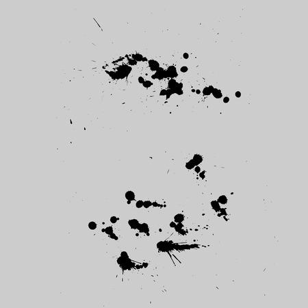 splats: Vector Stains, Blots, Splashes Set. Ink splats