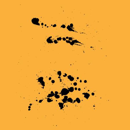Ink splashes. Splash Vector Art, Stock Vector Illustration