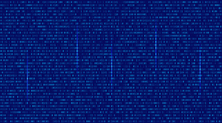 encoded: Abstract Blue Technology Background. Binary Computer Code. Programming  Coding  Hacker concept. Vector Background Illustration. Illustration