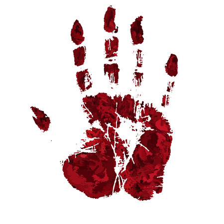Orrore sangue stampa a mano.