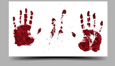 handprints: Bloody Hand-prints. 16:9