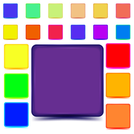 web buttons: Set of colored web buttons