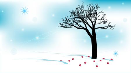bank branch: Winter apple tree