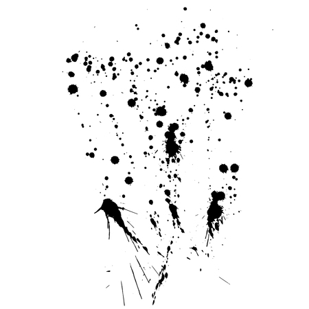 Vector Stains, Blots, Splashes Set. Ink splats