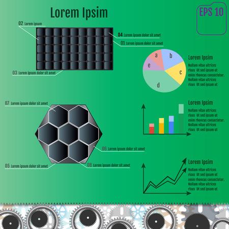 solar battery infographic concept. vector illustration Illustration