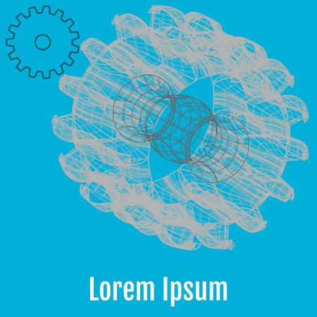 Abstract Vector illustration of gears on the blue background. For your business. Infographic template Vetores
