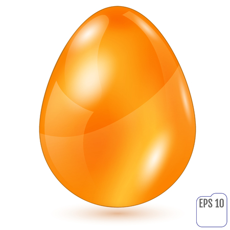 golden egg: Realistic golden easter egg on white background. Vector illustration