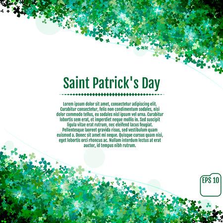 Vector Illustration of a St. Patricks Day Background Illustration
