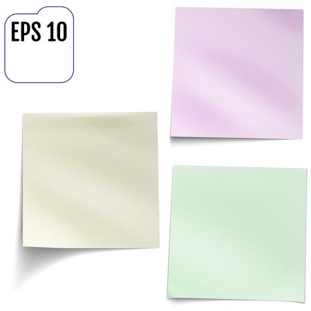 posit: Vector Illustration of a colored set of sticky notes