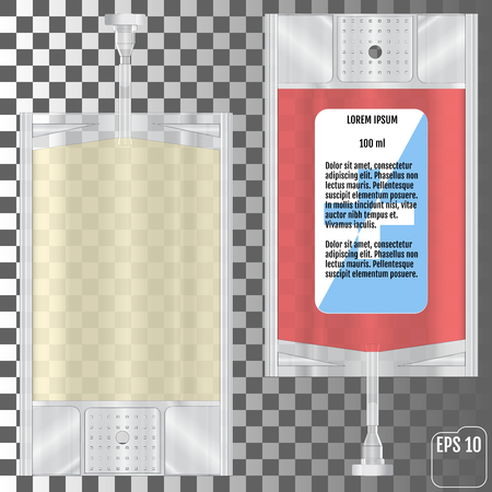 Blood Bag isolated on transparent background. Vector