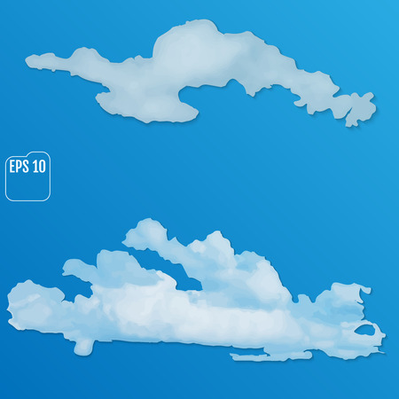 Set of different clouds. Vector illustration EPS 10