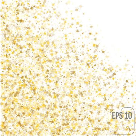 Festive flying gold stars shower