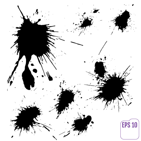 Collection of Various Ink Blot Splatters. Vector collection of various ink splatters I use frequently in my work Ilustrace