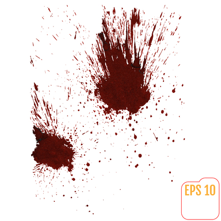 insane: A blood splatter graphic on white. Vector.