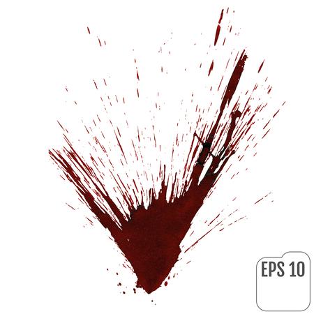 Realistic blood or wine splatters. Elements of design for halloween. Vector illustration.