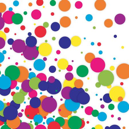 polka dot colored confetti clip art vector texture background rh 123rf com Polka Dot Alphabet Clip Art black polka dot background clipart